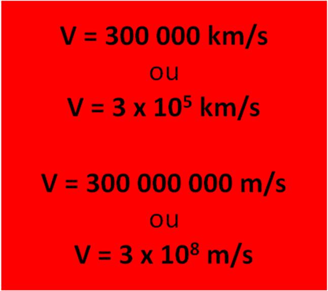 formule de la vitesse de la lumiere